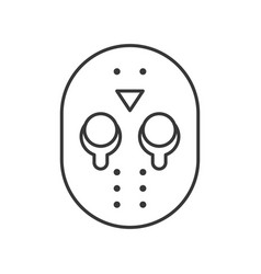 halloween character icon murderer mask jason vector image
