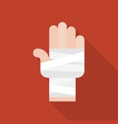 Hand and bandage icon vector