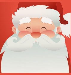 happy santa claus character to design banners vector image