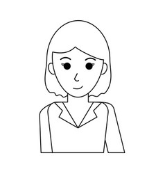 Happy woman dressed in professional outfit icon vector