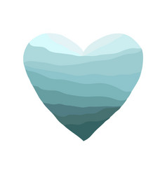 heart-blue-wave vector image