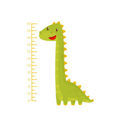 Height chart for measuring kids growth with vector