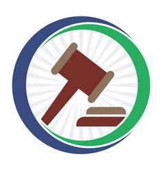 Icon logo for bidding business vector