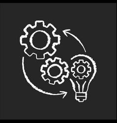 Implementation chalk white icon on black vector
