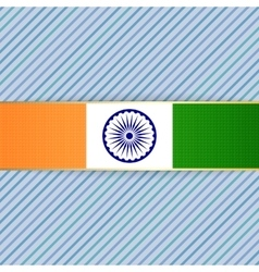 India patriotic Banner and Ribbon vector
