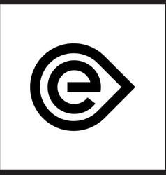 Initials letter e logo circle template vector