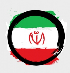 Iran circle flag vector image