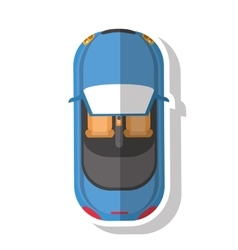Isolated car vehicle design vector image