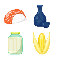 Isolated object of food and organic symbol set of vector