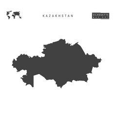 Kazakhstan map isolated on white background vector