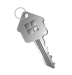 Key in the form of a house vector