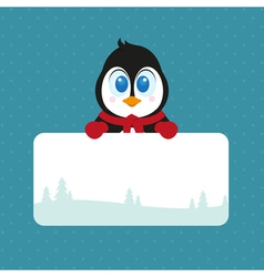 Lovely Christmas Pinguin vector image vector image