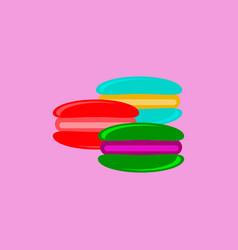 Macaroon cookies vector