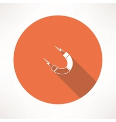 Magnet icon vector