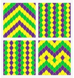 Mardi gras geometric seamless backgroun vector image
