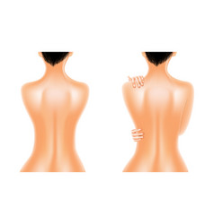 naked back beautiful oiled woman vector image