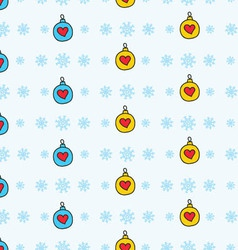 New Year theme seamless pattern vector image