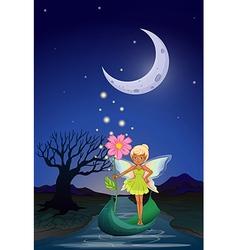 Night fairy vector