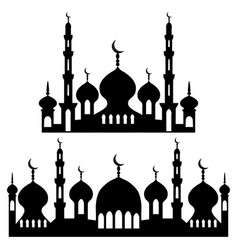 On theme different types mosques vector