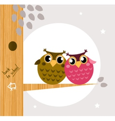 owl friends vector image