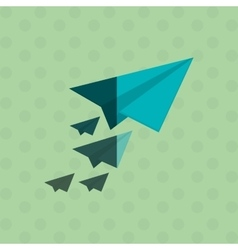 paperplane icon design vector image
