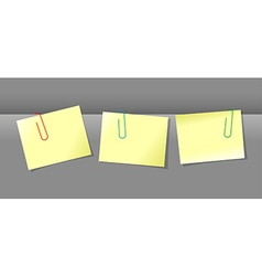 Papers conjunction with paper clips vector image