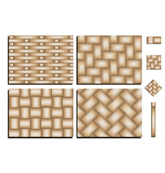 pattern of woven bamboo vector image