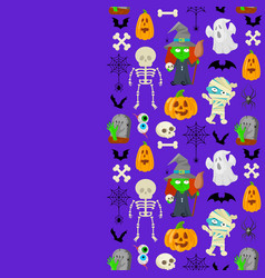 patttern for halloween vector image