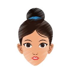 Pretty woman icon image vector