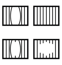 prison icon set vector image