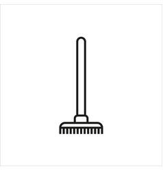 Rake icon icon on white background vector
