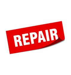 Repair sticker repair square sign repair peeler vector