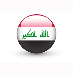 Round icon with national flag of Iraq vector