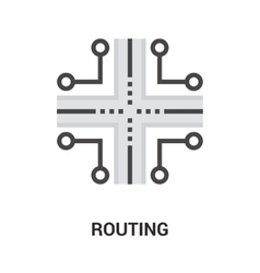 routing icon concept vector image