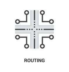 Routing icon concept vector
