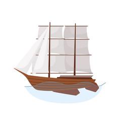sea sailboats ship water carriage and maritime vector image