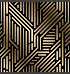 seamless geometric luxury pattern - techno vector image