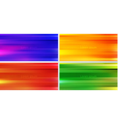 set abstract yellow blue red green vector image