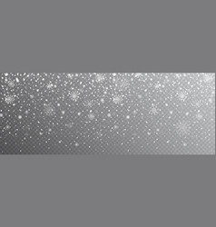 snow falling background snowflakes on transparent vector image