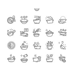 soup well-crafted pixel perfect thin line vector image