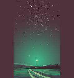 space poster background with launched spacecraft vector image