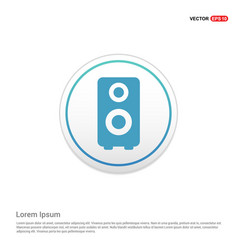 speaker icon - white circle button vector image