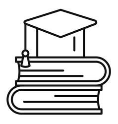 stack books icon outline style vector image