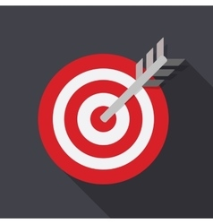 Target Flat Concept Icon vector
