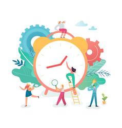 Time management business process optimization vector