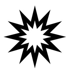 twelwe point star black on white background vector image