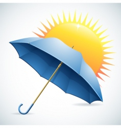 Umbrella and the sun vector