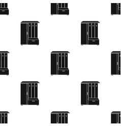Vestibule wardrobe icon in black style isolated on vector