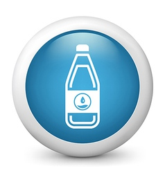 Water Bottle glossy icon vector image