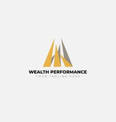Wealth performance financial lo vector